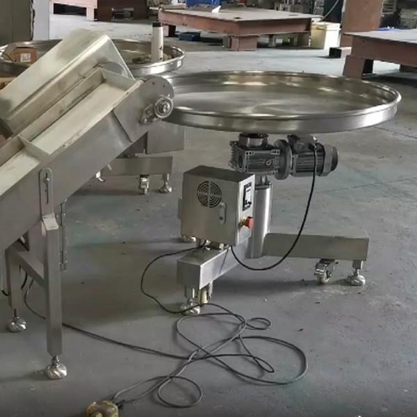 成品输送机和圆盘理料机